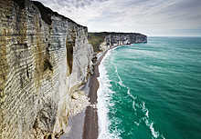 Chalk Cliffs, Normandy, France